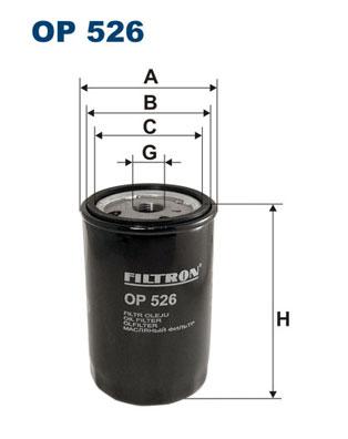 Ilustracja OP 526 FILTRON filtr oleju