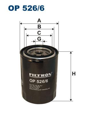 Ilustracja OP 526/6 FILTRON filtr oleju