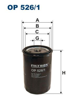Ilustracja OP 526/1 FILTRON filtr oleju