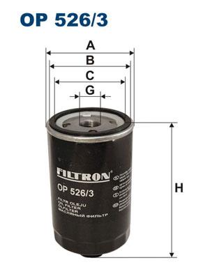 Ilustracja OP 526/3 FILTRON filtr oleju