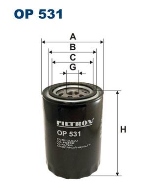 Ilustracja OP 531 FILTRON filtr oleju