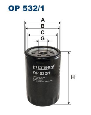 Ilustracja OP 532/1 FILTRON filtr oleju