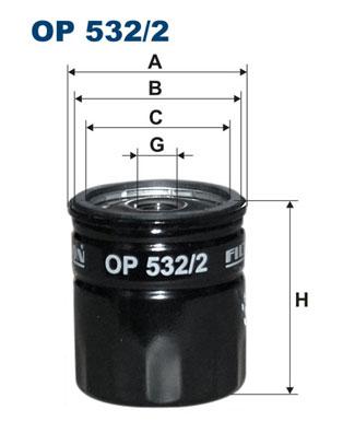 Ilustracja OP 532/2 FILTRON filtr oleju