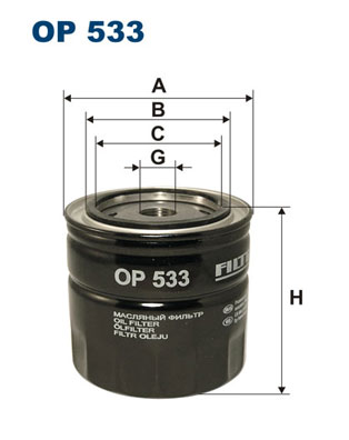 Ilustracja OP 533 FILTRON filtr oleju