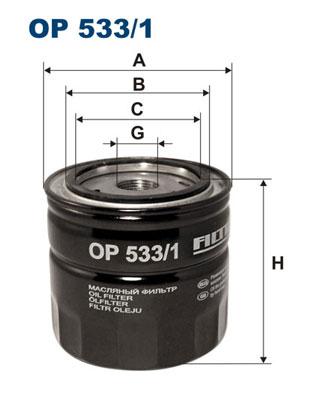 Ilustracja OP 533/1 FILTRON filtr oleju