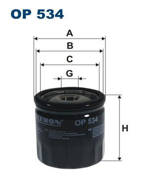 Ilustracja OP 534 FILTRON filtr oleju