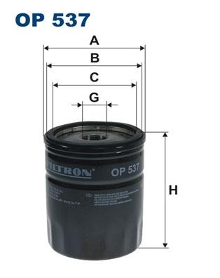 Ilustracja OP 537 FILTRON filtr oleju