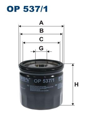 Ilustracja OP 537/1 FILTRON filtr oleju