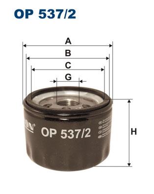 Ilustracja OP 537/2 FILTRON filtr oleju