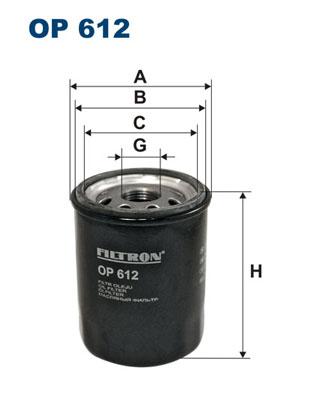 Ilustracja OP 612 FILTRON filtr oleju