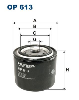 Ilustracja OP 613 FILTRON filtr oleju