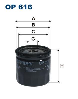 Ilustracja OP 616 FILTRON filtr oleju