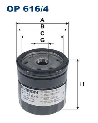 Ilustracja OP 616/4 FILTRON filtr oleju