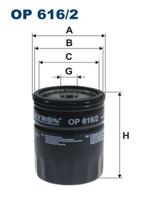 Ilustracja OP 616/2 FILTRON filtr oleju