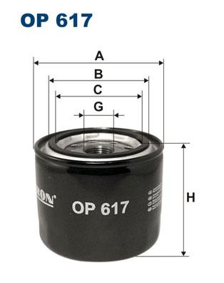 Ilustracja OP 617 FILTRON filtr oleju