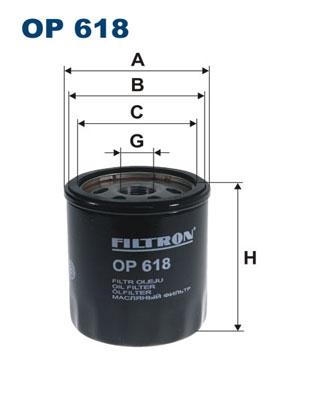 Ilustracja OP 618 FILTRON filtr oleju