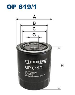 Ilustracja OP 619/1 FILTRON filtr oleju