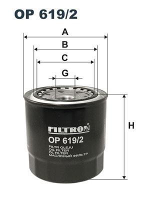 Ilustracja OP 619/2 FILTRON filtr oleju