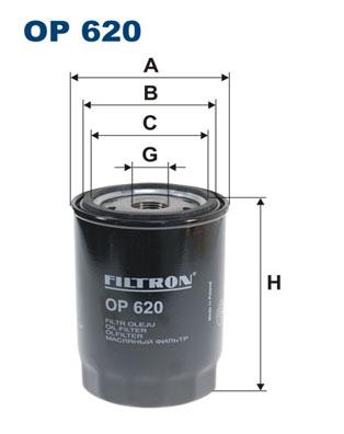 Ilustracja OP 620 FILTRON filtr oleju