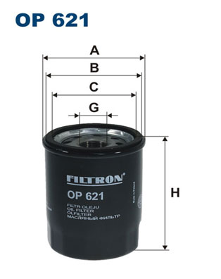 Ilustracja OP 621 FILTRON filtr oleju