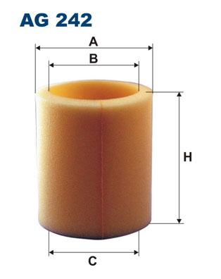 Ilustracja AG 242 FILTRON filtr powietrza