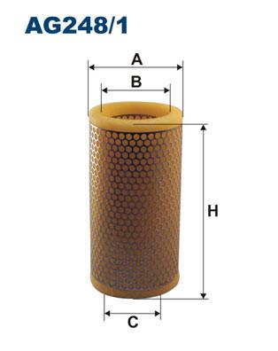 Ilustracja AG 248/1 FILTRON filtr powietrza