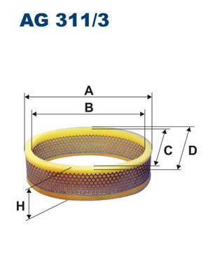 Ilustracja AG 311/3 FILTRON filtr powietrza