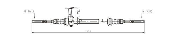 Ilustracja OP4001 GENERAL RICAMBI przekładnia kierownicza