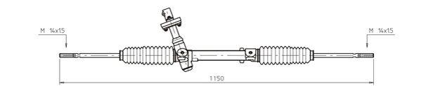 Ilustracja OP4008 GENERAL RICAMBI przekładnia kierownicza