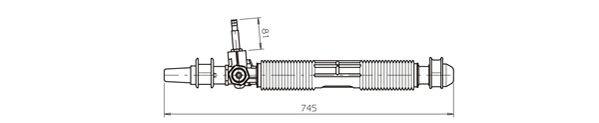 Ilustracja OP4036 GENERAL RICAMBI przekładnia kierownicza