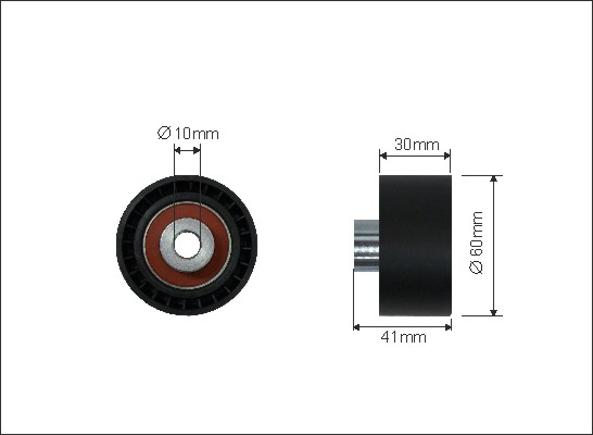 Ilustracja 23-57 CAFFARO rolka kierunkowa / prowadząca, pasek rozrządu