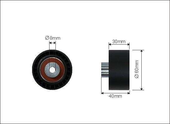 Ilustracja 23-59 CAFFARO rolka kierunkowa / prowadząca, pasek rozrządu