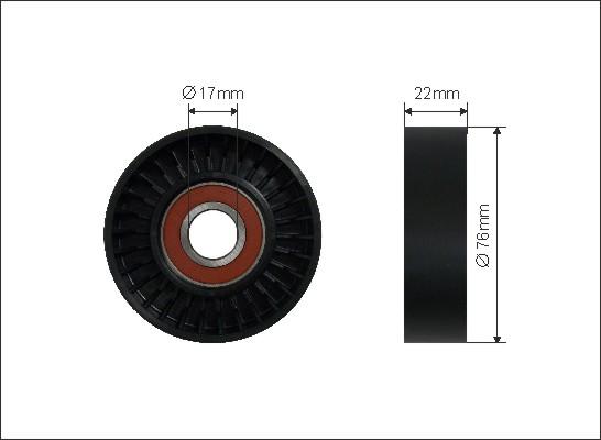 Ilustracja 236-00 CAFFARO rolka napinacza, pasek klinowy wielorowkowy