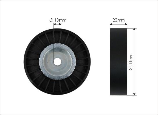 Ilustracja 412-99 CAFFARO rolka napinacza, pasek klinowy wielorowkowy