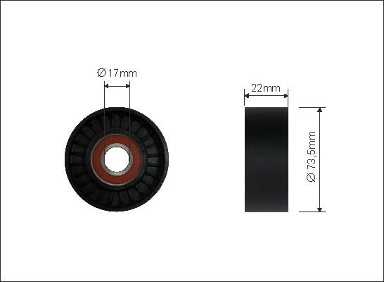 Ilustracja 413-00 CAFFARO rolka napinacza, pasek klinowy wielorowkowy